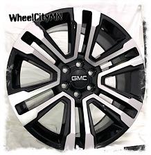 22 Inch Gloss Black Machine 2018 Gmc Sierra Denali Oe Replica Wheels 6x55 24
