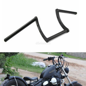 guidon-z-bar-noir-moto-Bobber-Chopper-handelbars-1-034-25mm-Pour-Harley-Honda-Suzuki