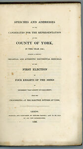 1826-York-Election-speeches-election-dinners-scarce