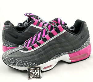 Details about NEW 10 Mens Nike Air Max 95 Premium Tape Running Midnight FogBlackPink Foil