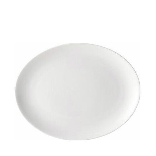 """Vaisselle 6x ovale 14/"""" plaques Dîner Ensemble Restaurant blanc pur par l/'utopie"""