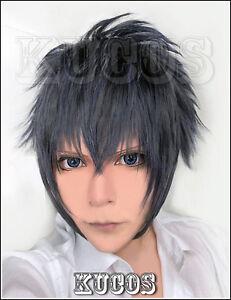 626-Final-Fantasy-XV-Noctis-Lucis-Caelum-Short-Blue-Gray-Black-mix-Cosplay-Wig