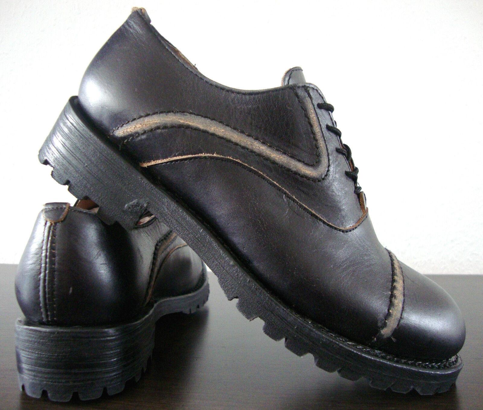 Los últimos zapatos de descuento para hombres y mujeres Descuento por tiempo limitado ASH OWEN Schnürschuhe Slipper Schuhe Sneaker Damen Halbschuhe Leder Gr.37 NEU