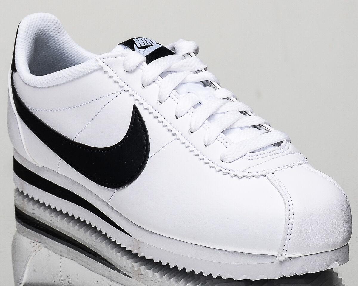 Nike wmns classico stile di vita le scarpe da ginnastica nuove donne cortez di pelle bianca 807471-101