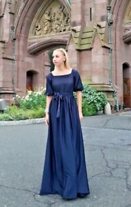 Luxury Dress Gown High End Quality Royal Dark Blue Wedding Red