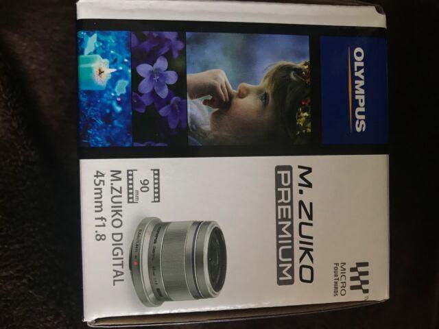 Brand New Olympus M.Zuiko 45mm f1.8 MFT Lens - Black UK SELLER