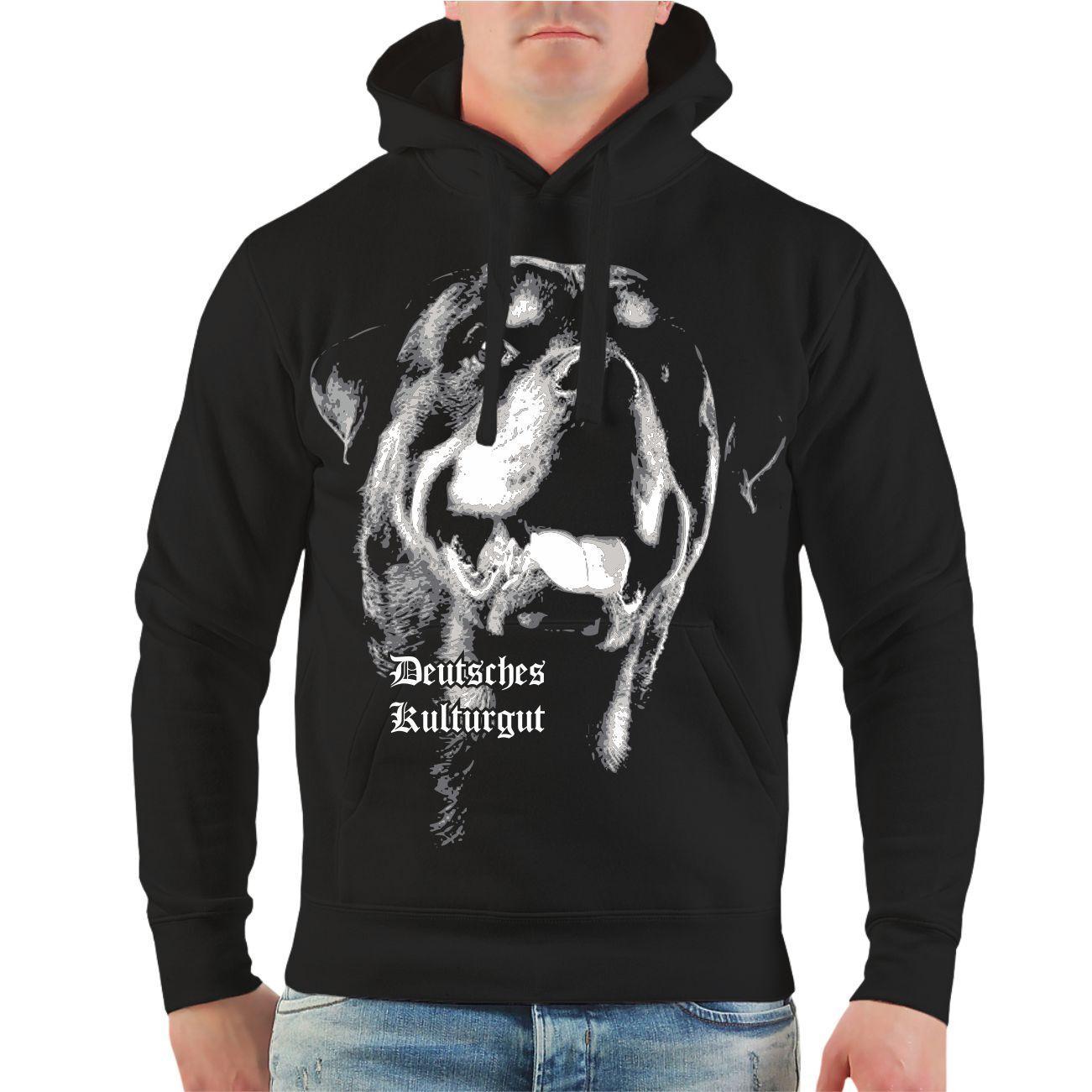 Kapuzenpullover Rottweiler Deutsches Kulturgut Rasse Zucht Spruch Hunde Hoodie