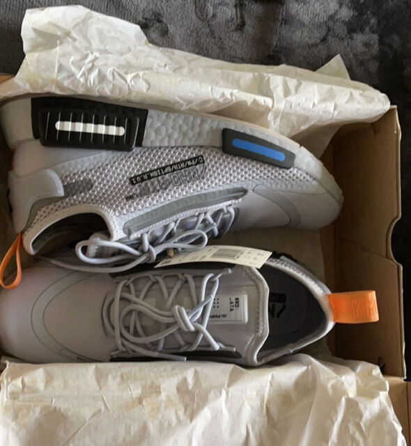 Size 7.5 - adidas NMD R1 Spectoo Halo Silver 2020