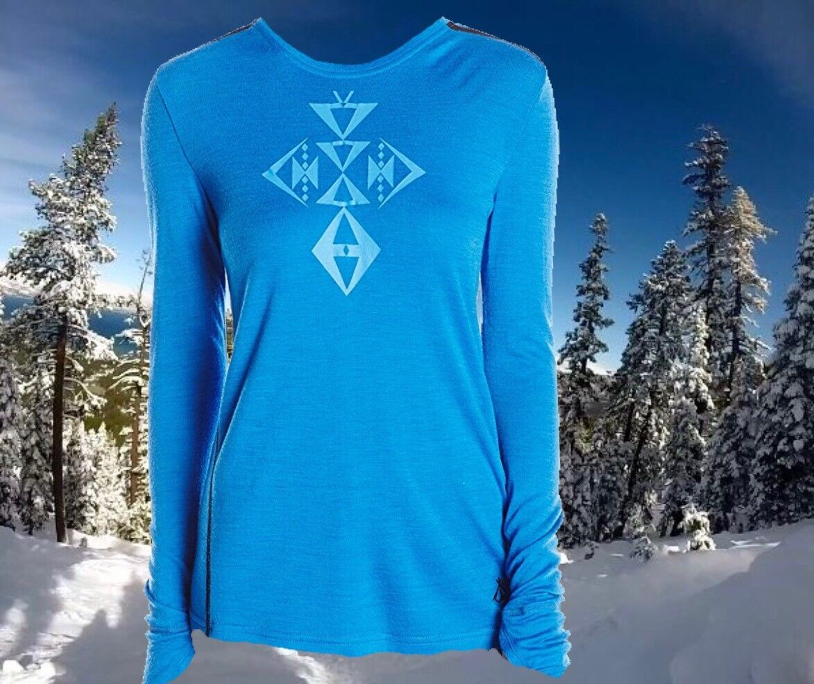 Pendleton Womens Large bluee Soft  Merino Wool Base Layer Ski Snowboard Top Nwt  sell like hot cakes