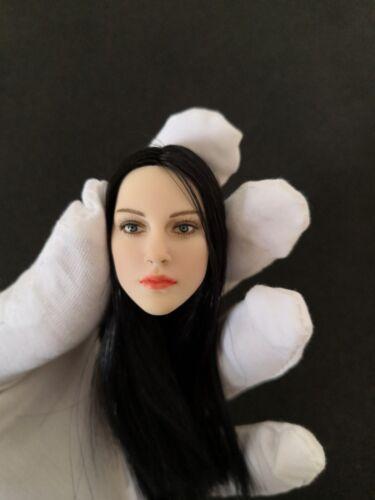 "1:6 Scale Beauty Long Black Straight Hair Head Sculpt F 12/"" Female Pale Body"