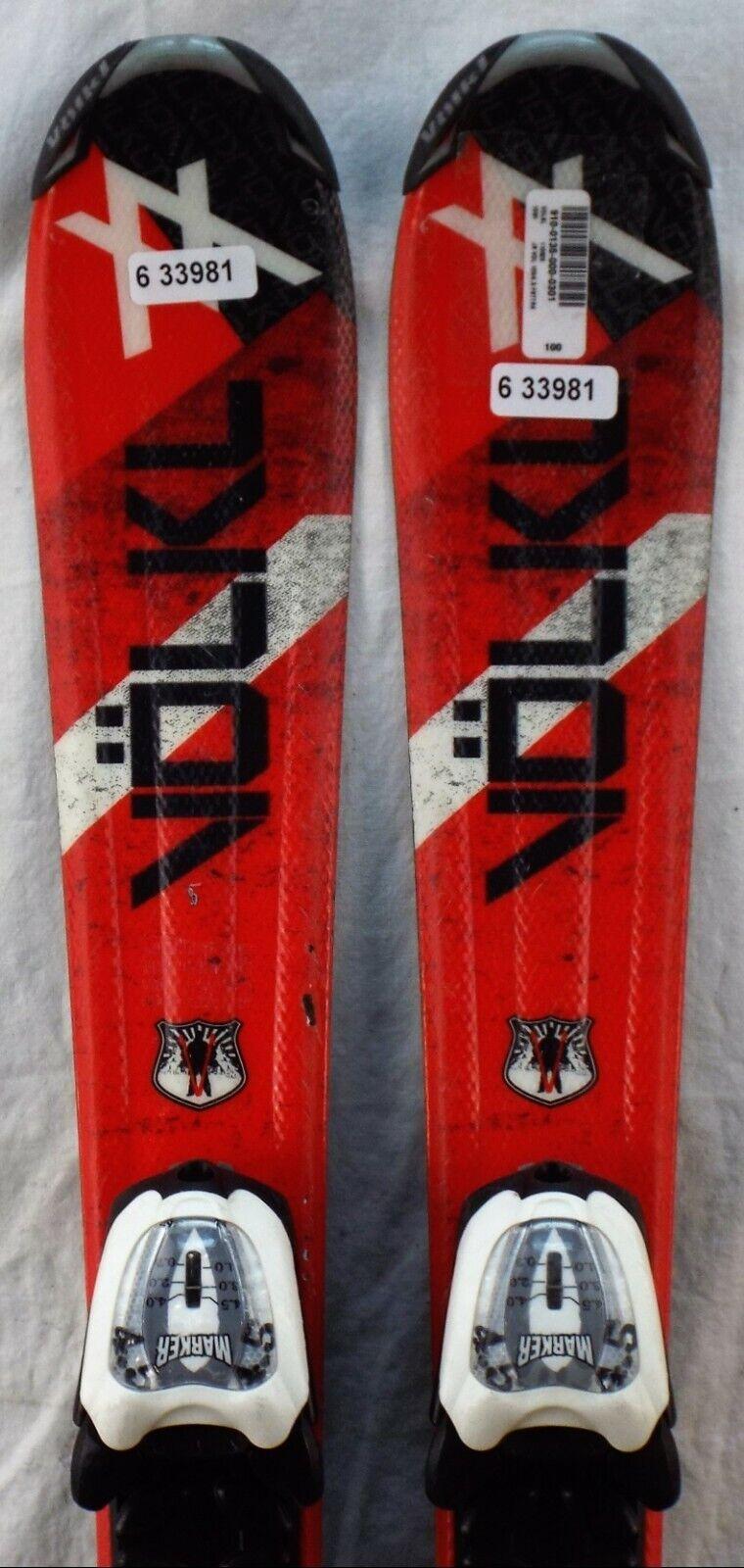 09-10 Volkl Unlimited Jr Used Junior Skis w Bindings Size 100cm