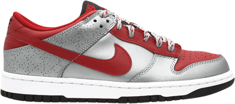 NIKE Gr:41 Dunk LOW LO Neu Premium Silber/Rot Gr:41 NIKE Leather OLdschool Sneaker limited 8c1d80