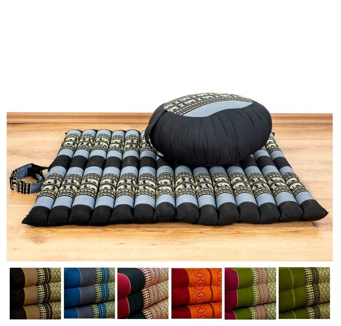 Rollmatte XS mit Zafukissen, Yogamatte, Pilates, Meditationskissen