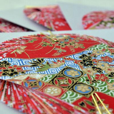 Japanese 10 Sheets Origami Washi Paper Random Craft 7.5cm x 7.5cm
