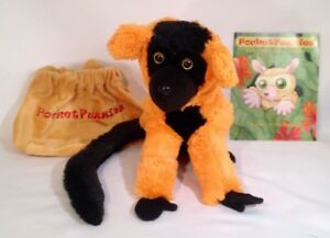 WOW-ON-SALE-NOW-Red-Ruffed-Lemur-Plush-Animal-amp-Story-Booklet-by-PocketFuzzies