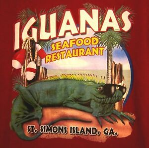 Image Is Loading Iguana S Seafood Restaurant Small T Shirt St