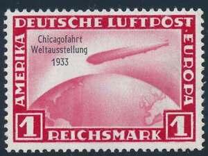 D-Reich-Nr-496-ungebraucht-1-RM-Chicagofahrt-46004
