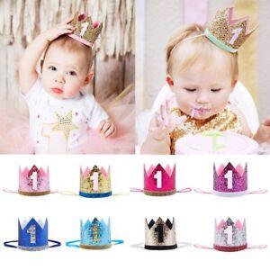 Baby 1 Year Old Birthday Flower Cone Princess Hat Crown Headwear ... 40f373d6abf