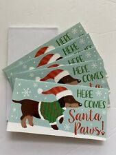 NEW Dachshund Christmas Gift Boxes Cards Set Holiday Doxie Dog Santa