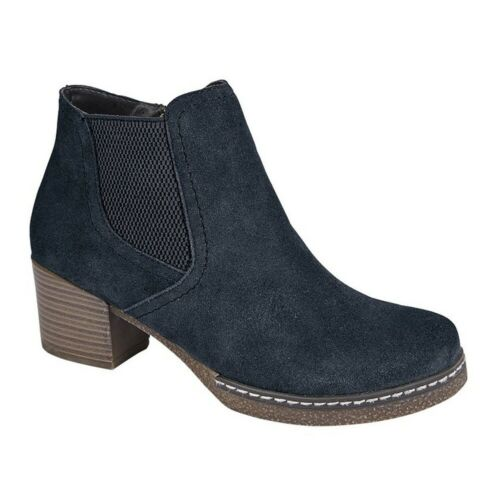 DF1662 Cipriata Womens//Ladies Monalisa Suede Leather Ankle Boot