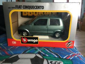 Burago-BBurago-Fiat-500-Cinquecento-1-24-cod-0194-Originale-EDICOLA