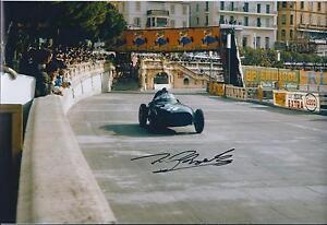 Tony-Brooks-Autograph-12x8-Photo-Champion-Driver-AFTAL-COA-SIGNED-Winner-COA