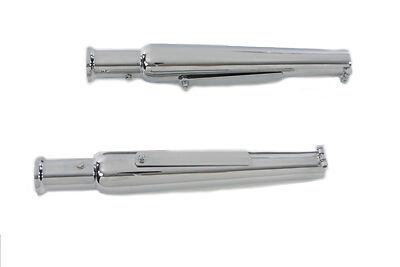 "Chrome 20/"" megaphone slip on muffler incl.end clamp @ 1-3//4/"" pipes /& mount strap"