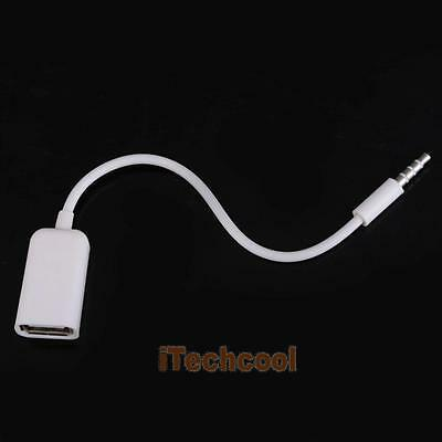 USB Female to AUX 3.5mm Male Jack Plug Audio Converter Adapter Data Cable  #T1K