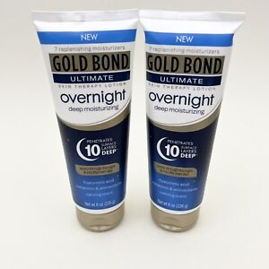 Gold Bond Ultimate Overnight Deep Moisturizing Lotion | 8 Ounce each | Pack of 2