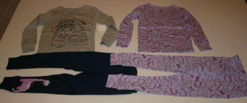Neu Carter/'s Mädchen 4 Stück Sleepy Saurus Dinosaurier Baumwoll Schlafanzug Nwt