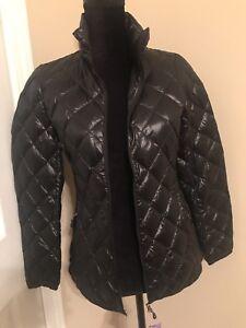 32-Degrees-Heat-Packable-Ultra-Light-Down-Jacket-Black-NWT-Women-039-s-XS