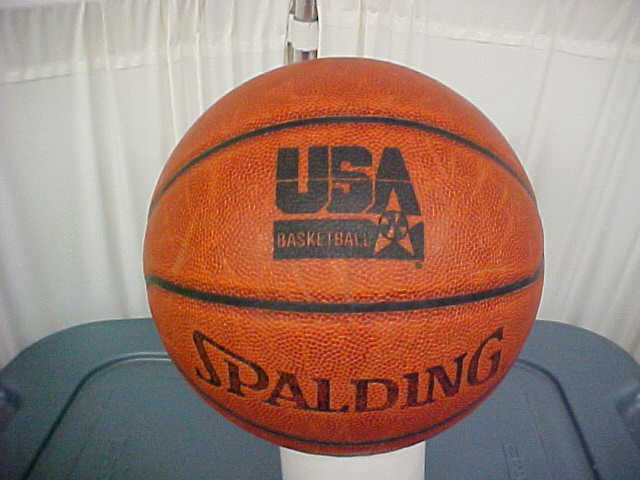 Spalding USA Basketball game used TF-1000 Basketball 1st Generation ZK Composite