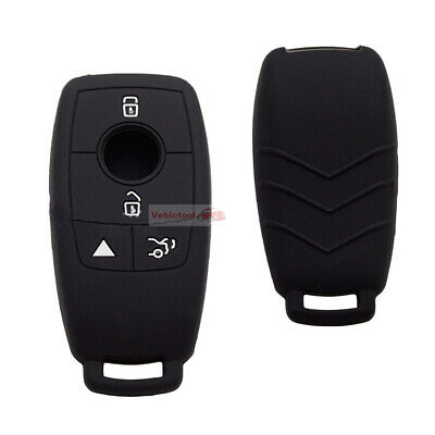 A Pair Black Silicone Key Fob Cover Case fit for Toyota 4 Buttons Smart