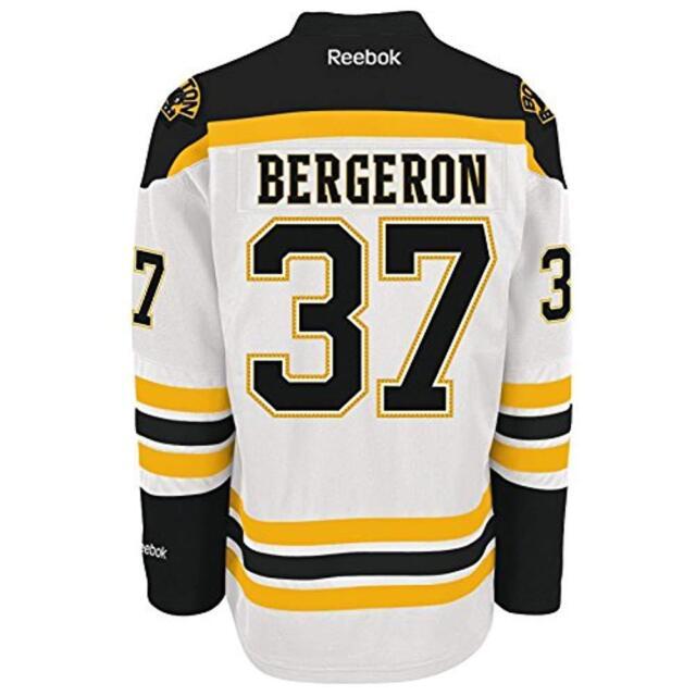 best sneakers adbaf 92a22 Reebok NHL Boston Bruins Bergeron Premier Men's Jersey, Size L - White