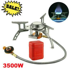 3500W Portable Gas Camping Stove Butane Propane Burner Outdoor Hiking Picnic