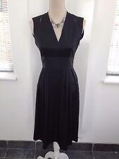 STUNNING  ISSA LONDON 100% SILK Little black dress UK 10