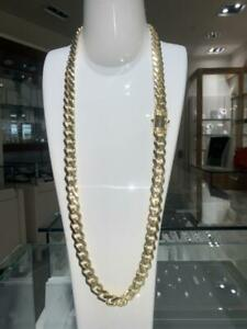 OVERSIZED Brand New Pure 10k Yellow Gold MIAMI Cuban Link 31 inches 13 mm Canada Preview