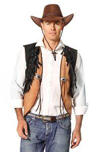 cowboy fransenweste neu herren karneval fasching verkleidung kost m ebay. Black Bedroom Furniture Sets. Home Design Ideas