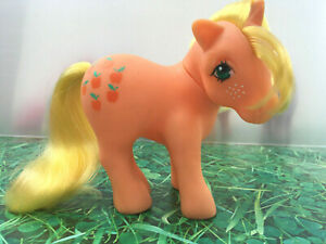 My-Little-Pony-G1-Applejack-Shy-Pose-Vintage-Toy-Hasbro-1983-Collectibles-MLP-B