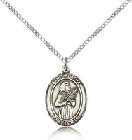 Saint Agatha Catholic Medal / Sterling Silver Or Pewter W 24 Or 18 Chain