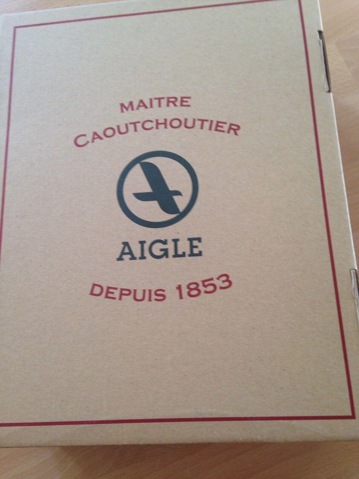 Stiefel  Aigle    Gr. 37 Leder Wildleder Farbe  granatapfel-rot, wNeu 25a3d1