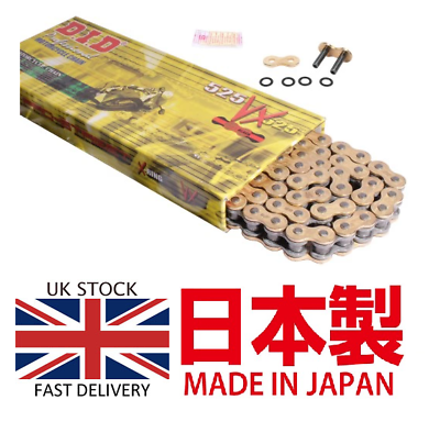 DID 525VX Gold X-RING Road Chain 525x120 for BMW F800GS 2008-2012