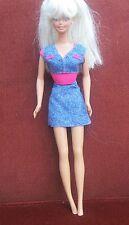Vintage Sindy doll . 1976 , Long blonde crimped hair ,denim outfit