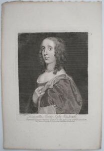 1798-ENGRAVING-HENRIETTA-MARIA-LADY-WENTWORTH-1657-1686-BARONESS-OF-NETTLESTEAD