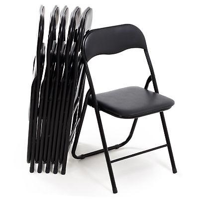 Set da 6 Sedie Pieghevoli salvaspazio in Metallo Ufficio Casa sedia imbottite