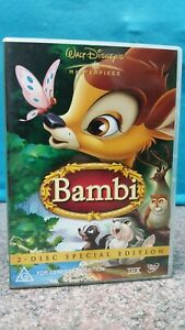 DISNEY-039-S-BAMBI-DVD-PAL-FREE-POST