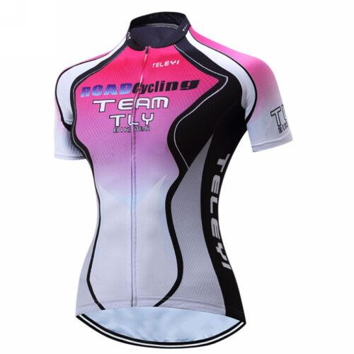 TELEYI Summer Womens Cycling Jersey Bike Clothing Wear Short Sleeve T-Shirt Tops