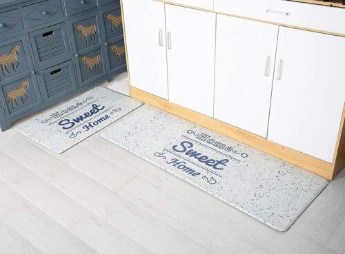 Anti Fatigue Kitchen Rug Set 2 Pieces,Comfort Floor Standing,Waterproof Non Skid