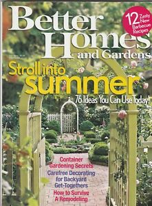 Better Homes And Gardens Magazine July 2006 Stroll Into Summer