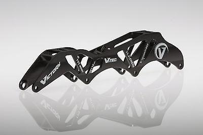 "VICTORY V-TEC FRAMES 3X125 12.6/"" 195//165mm Inline Speed Skate Frame Silver"